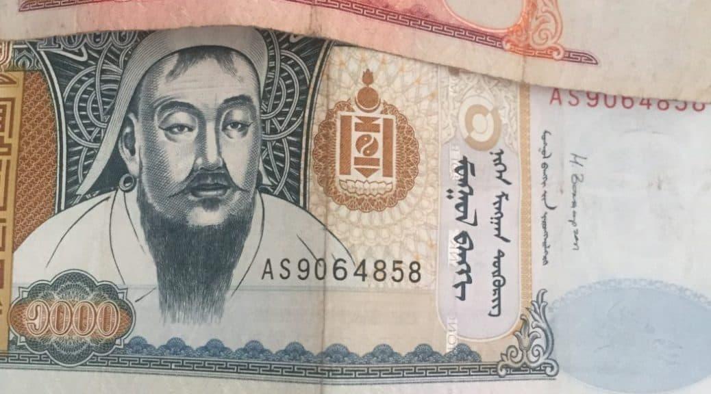 Mongolische Geldscheine - 20er, 500er und 1000er