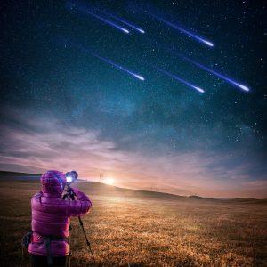 Klarer Sternenhimmel über der Mongolei