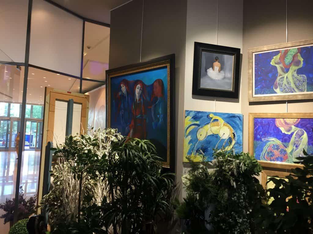 Ausstellungsraum der Shangri-La Galerie in Ulaanbaatar