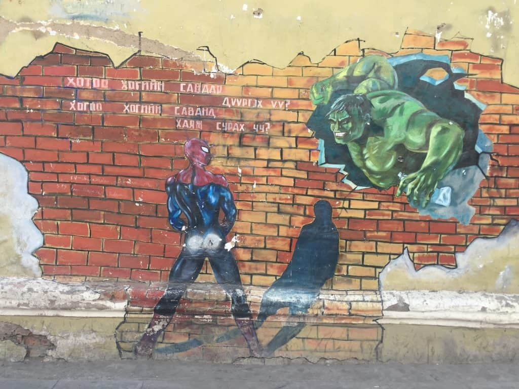 Spiderman Street Art