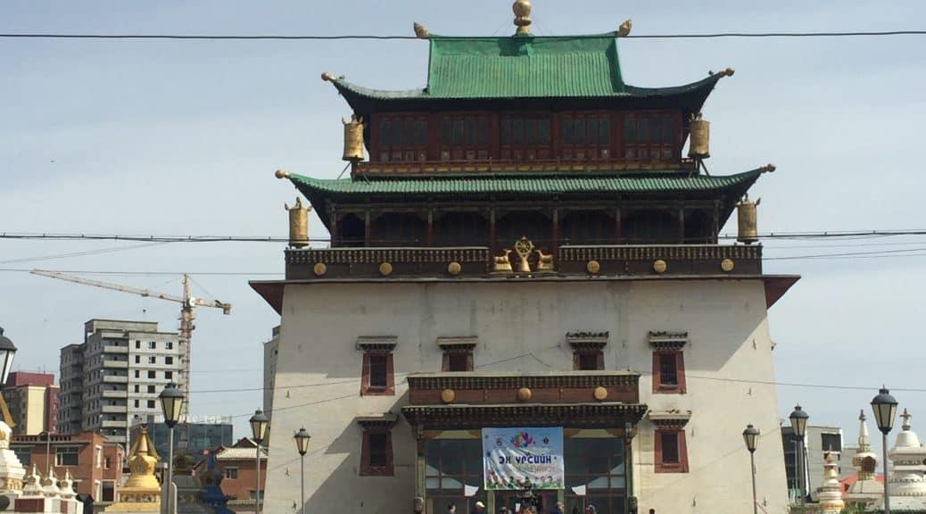 Gandan Kloster in Ulaanbaatar, Mongolei