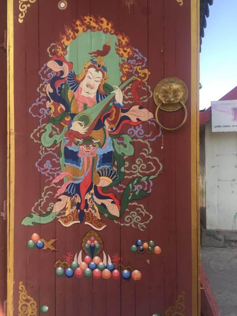 Einkaufen in der Mongolei: Eine traditionelle Tür