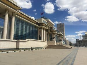mongolisches Parlament in UB