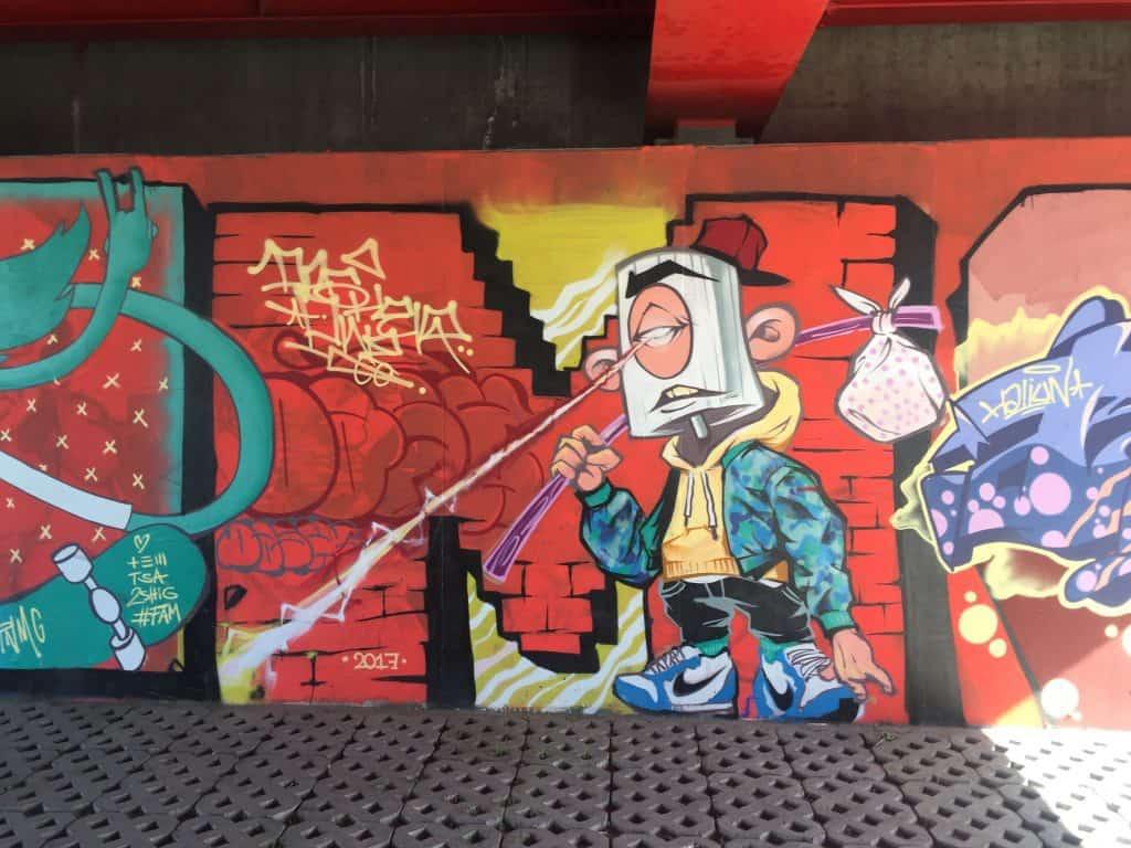 Graffiti in Ulaanbaatar 2 detailansicht