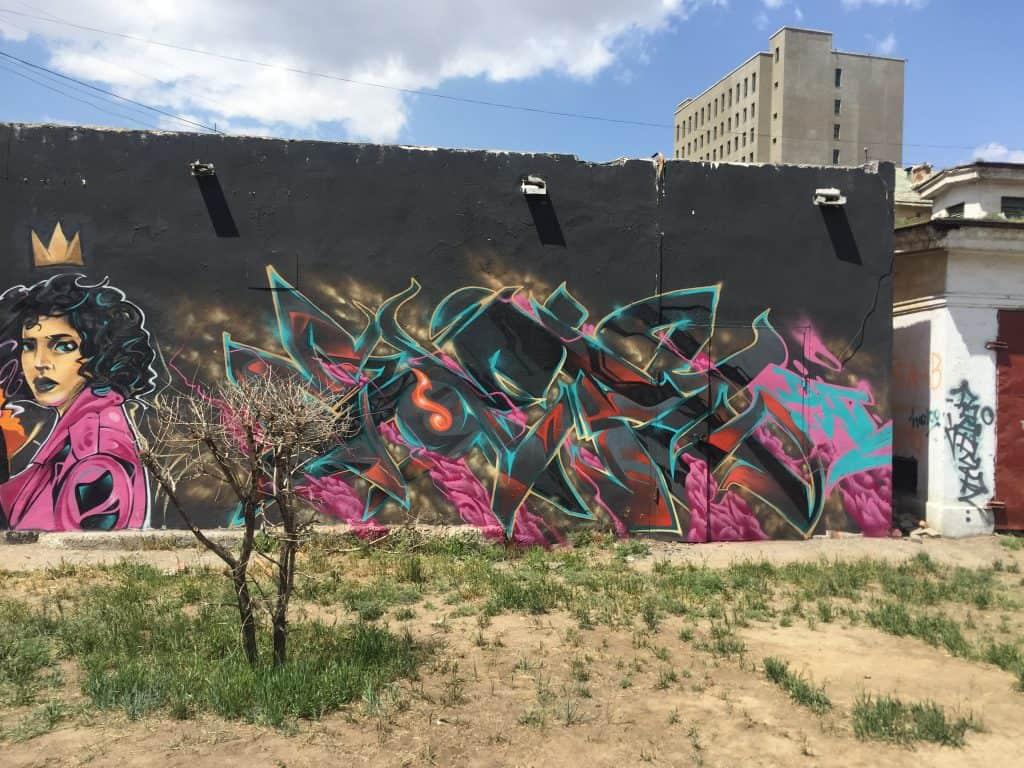Wandmalerei in der Mongolei