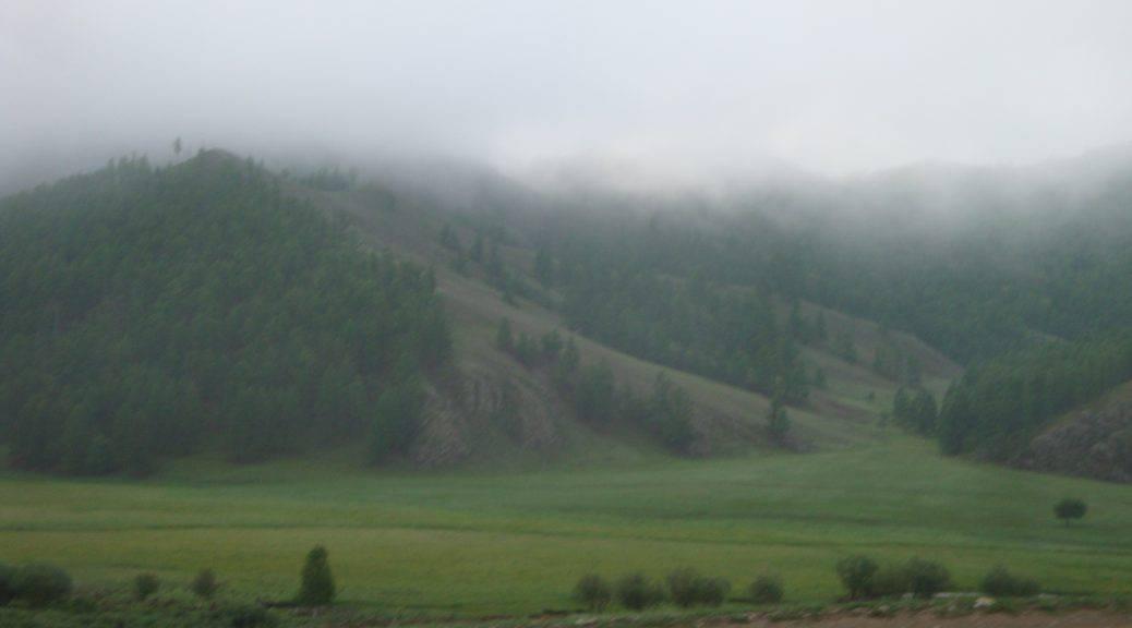 Typisch mongolische Landschaft