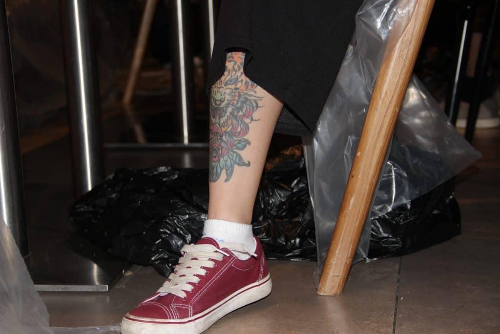 Skin & Canvas 2017 - Tattoo eines Teilnehmers