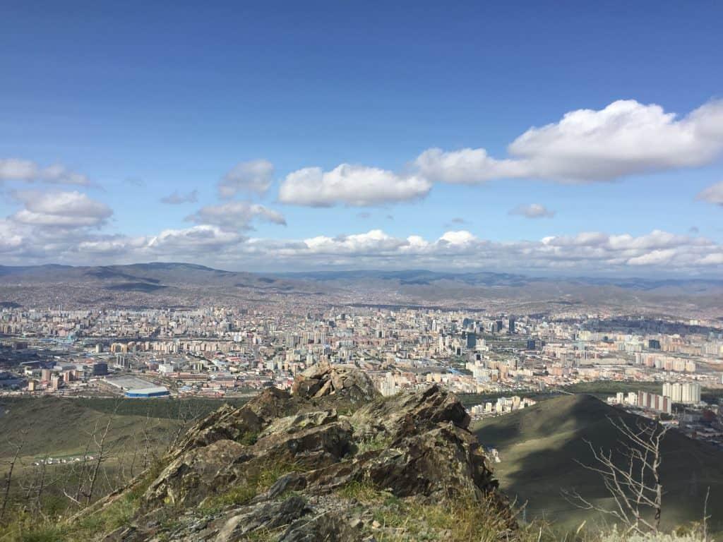 Sicht auf Ulan Bator von Bogd Khan