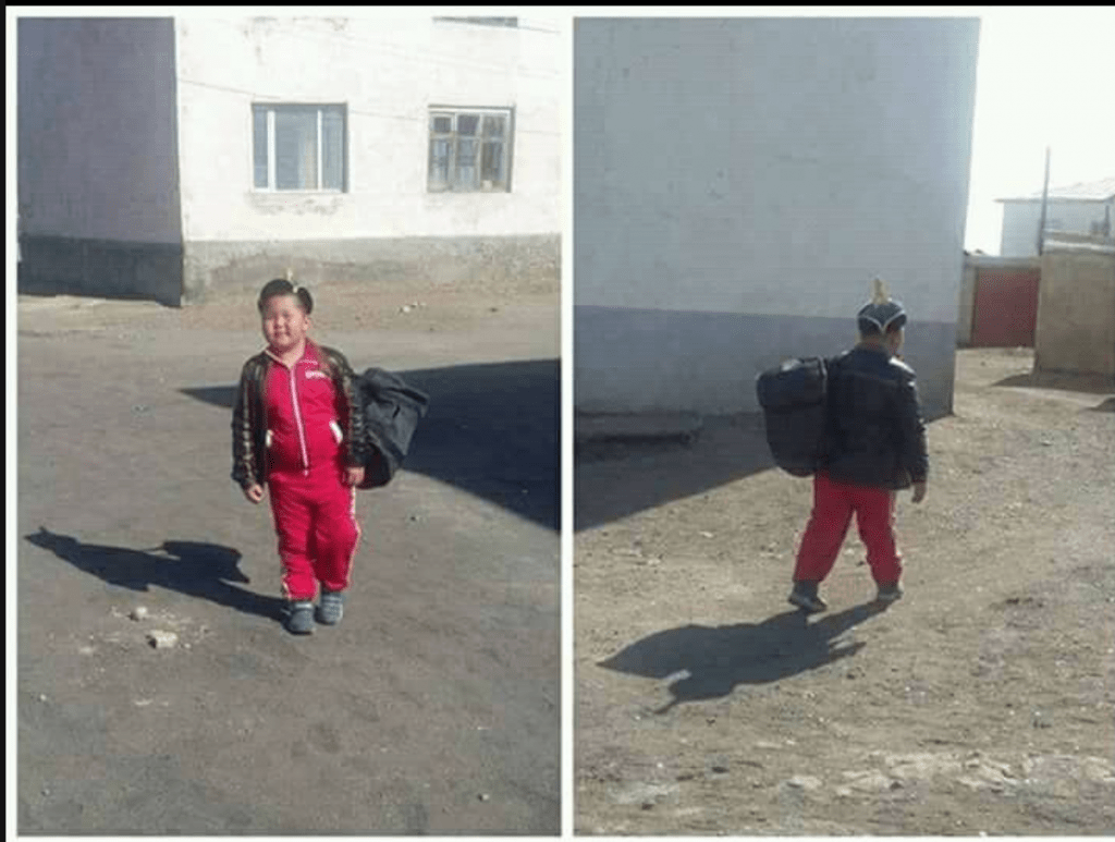 Sportler in der Mongolei