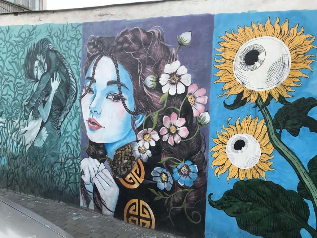 Streetart in der Mongolei