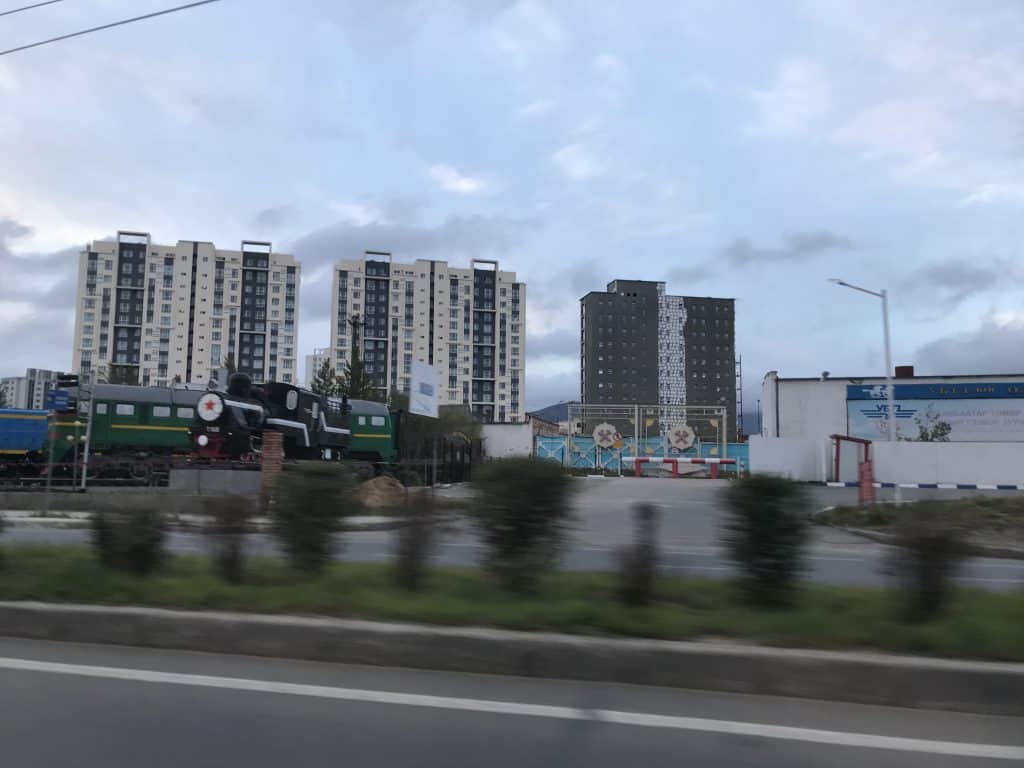 Bezirke von Ulaanbaatar entlang der Zugstrecke